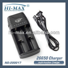 HI-MAX charger 26650 18650 17670 14500 16340 CR123