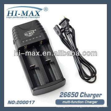 Cargador HI-MAX 26650 18650 17670 14500 16340 CR123