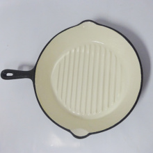 10 Inch Enamel Cast Iron Fry Pan With Handle/Griddle Pan/Cookware
