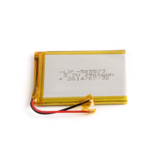 High capacity 505573 3.7v 2500mah polymer battery