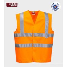 100% Polyester HI-VIS Mesh Sicherheitsweste für den Straßenverkehr