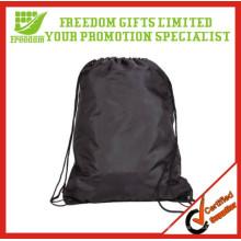 Logotipo promocional impresso barato saco de cordão de poliéster