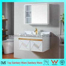 Gabinete de parede de gabinete de alumínio novo com espelho com bacia