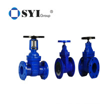 PN10 PN16 Cast Steel Hand wheel Resilient Seated DIN Water Soft Seal Gate Valve