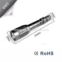 10W T6 LED 18650 Batterie Ultra Bright La plus puissante torche torche à LED rechargeable en aluminium