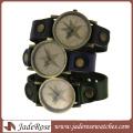 Оптовая личности сплава часы с Кожаный ремешок часы