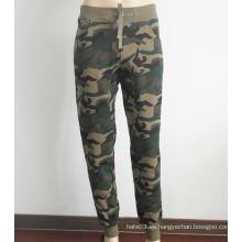 Pantalones de algodón flaco camuflaje pantalones deportivos