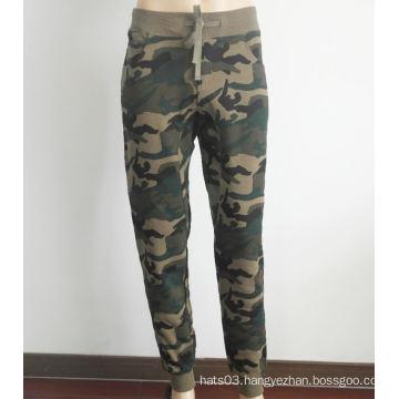 Cotton Skinny Pants Camouflage Sports Pants