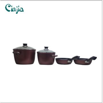 6PCS Kochgeschirr Set Housewares Pan Set Küchenartikel