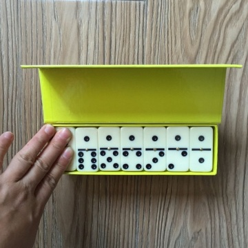 Hot Sale plastic double 6 dominoes game set