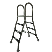 Factory supply foldable easy store step ladder SL series 4 steps folding pool ladder steps for swimming pool