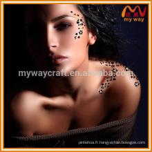 Autocollant temporaire de tatouage temporaire personnalisé avec diamant GEM pour décoration de fête