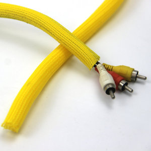 Self  Closing Wrap Braided Cable Wire Sleeving
