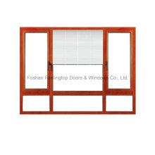 Fenêtre fixe en aluminium Feelingtop de bonne qualité avec le store facultatif (FT-W80)