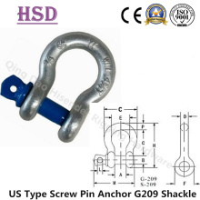 G-Us Forged Type Anchor Bow Shackle Screw Pin Painted Bule