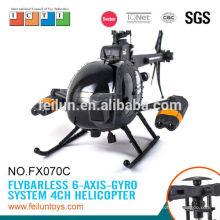 Helicóptero fresco fx070c grande flybarless 2.4G helicóptero 4CH rc con el girocompás para el certificado de CE/ROHS/FCC/ASTM venta