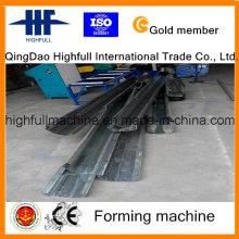 Rolo de calha de aço galvanizado dá forma à máquina