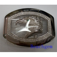 Chinese Zodiac Rooster Sterling Silver Belt Buckle for Man (B1023)