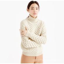Ladies' elegant pullover pure cashmere knitting women sweater