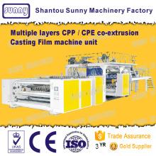 Múltiplas camadas CPP / filme máquina de fundição de co-extrusão de CPE