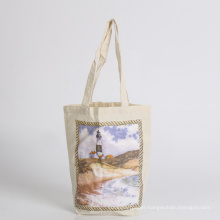 cotton bag with holder tote bag shopping bag