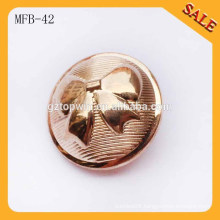 MFB42 Fashion Buttons Clothing round Buttons with logo Metal Button