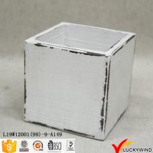 Mini beunruhigte schäbige Holz White Planter Box