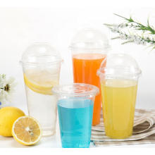 Bonway Plastic Disposable Cups Pet Smoothie Cups with Lids High Clear 12oz 16oz 20oz 22oz 24oz