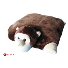 Personalizado almohada de lujo promocional de peluche en forma de almohada