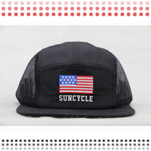 Solid Custom Cycling 5 Panel Camp Hat