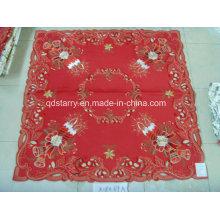 Couverture de table de Noël tissu rouge St121