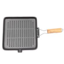 Chef nouveau style barbecue carré poêle polyvalente poêle à frire