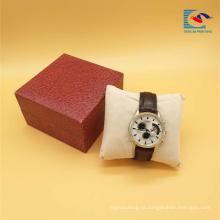 Caixa luxuosa por atacado do presente da embalagem do relógio do projeto da parte alta do coxim da esponja