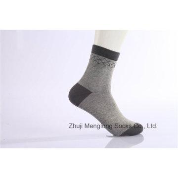 Negócio de homem clássico vestido tripulação algodão meias desgaste confortável de boa qualidade
