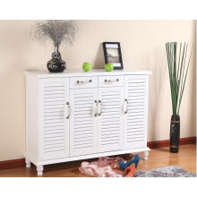 High End White Wood Shoe Cabinet (XG61413)