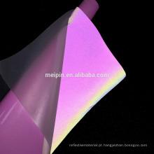 Vinil de transferência de calor Reflective / Reflector do arco-íris rosa para T-shirt