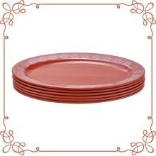 Ensemble de 6 assiettes ovales en mélamine de 12 po