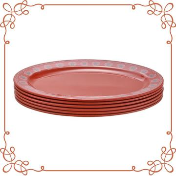 12 Inch Melamine Oval Plate Set of 6