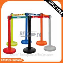 Barricadas de línea de cola retráctil de plástico portátil
