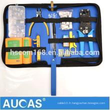 Trousse de kit d'outils pour électriciens professionnels et multifonctions