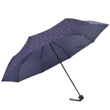 China wholesale cheap customized pattern long shaft 3folding golf umbrella for outdoor