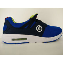Man Patchwork Blue and Black Running Shoes