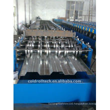 Floor metal deck making machine