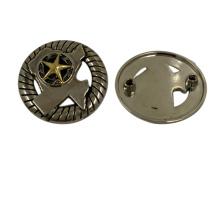 Sacos relativos à promoção personalizados em volta da placa do logotipo do metal