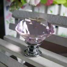 30 мм розовый Кристалл стекло ручки в хром