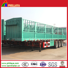 Tri-Axle Detached High Wall Livestock Trailer