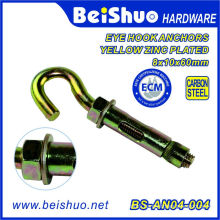 Carbon Steel Expansion Screw Open Cup Hook Sleeve Anchor