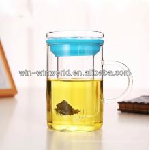 Colored 350ml Handmade Pryex Glass Tea Mug