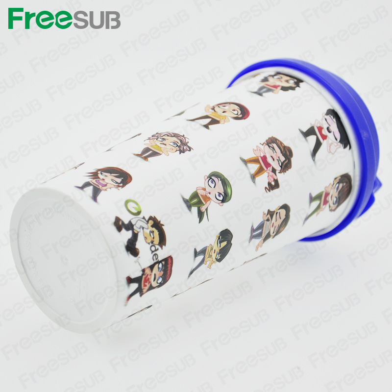 FreeSub Plastic Double Wall Travel Cup Mug