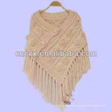 Ponchos de crochê de senhoras 13SW5082